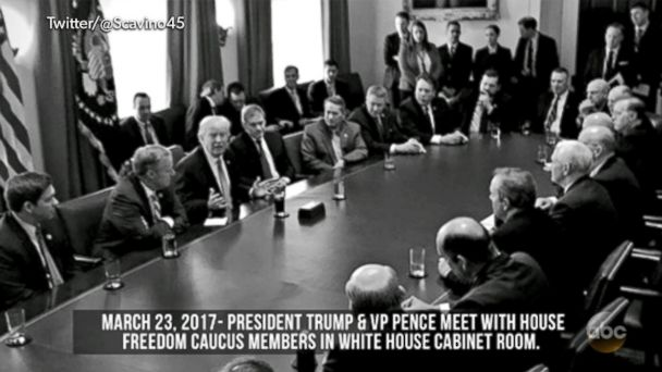 VIDEO: Vice President Pence tweets all-male picture of lawmakers discussing AHCA