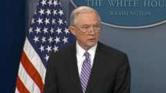 Attorney General Jeff Sessions made a surprise appearance at todays White House press briefing, slamming cities that are working to actively ignore the federal law to turn over people who are living in the country illegally.