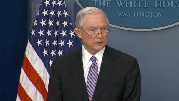 Attorney General Jeff Sessions made a surprise appearance at today's White House press briefing, slamming cities that are working to actively ignore the federal law to turn over people who are living in the country illegally.