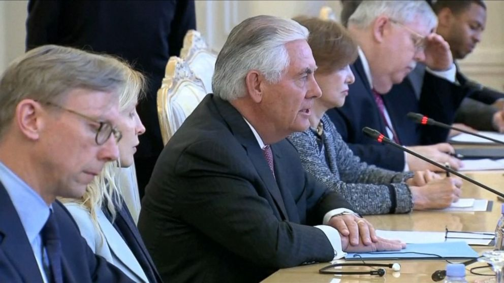 VIDEO: U.S. Secretary of State Rex Tillerson met with Russian president Vladimir Putin at the Kremlin Wednesday, along with Russian Foreign Minister Sergey Lavrov.