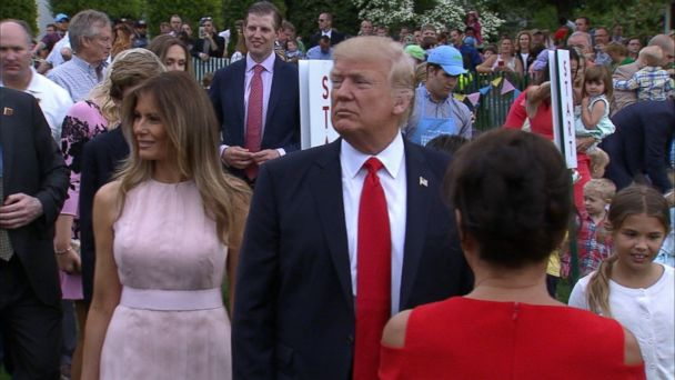 VIDEO: President Donald Trump weighed in on the tense situation with North Korea on the sidelines of the annual White House Easter egg roll today.