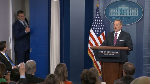 Rob Gronkowski's big personality was on full display today during White House press secretary Sean Spicer's briefing.