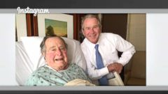 VIDEO: George H.W. Bush may be recovering from a mild case of pneumonia in a Houston hospital, but it hasnt dampened his affinity for sharing personal moments on social media.