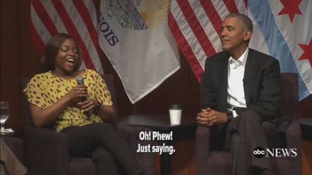 Former President Barack Obama spoke to students in Chicago in first public remarks since leaving office.