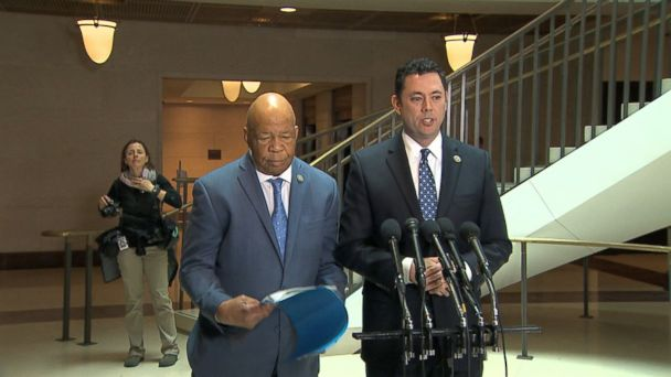 VIDEO: Republican chairman Jason Chaffetz of Utah and the panel's top Democrat, Elijah Cummings of Maryland spoke to reporters after reviewing classified documents from the Defense Intelligence Agency in a secure area of the Capitol's basement.