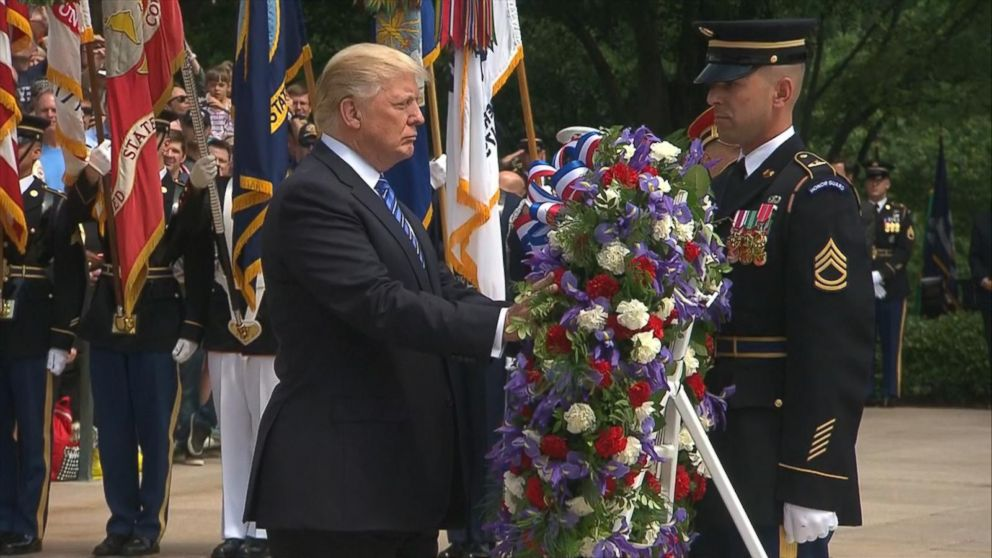 VIDEO: President Trump lays wreath at the Tomb of the Unknown Soldier