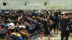 VIDEO: Some Notre Dame students walk out of commencement where Pence to speak