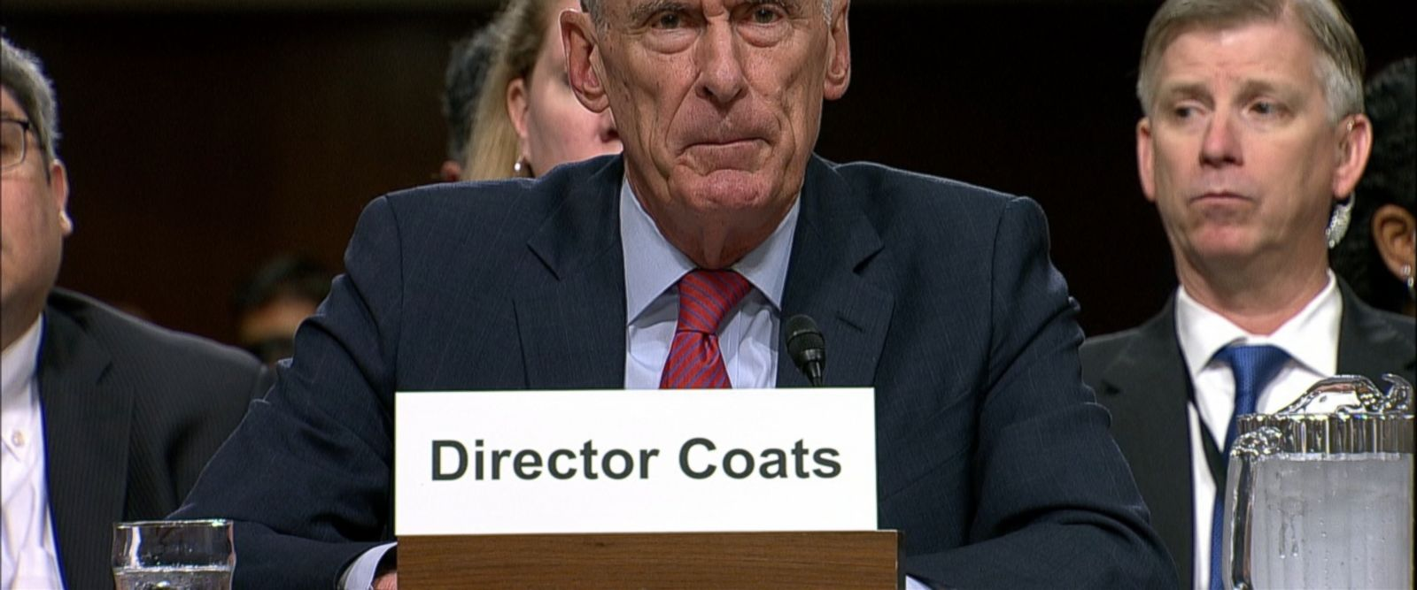 """It's not appropriate for me to comment publicly on any of that,"" Director Coats told the Senate Armed Services committee today."