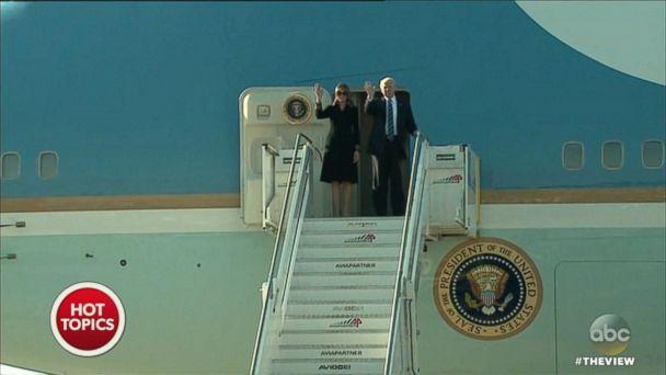 VIDEO: Melania Trump avoiding holding hands again?