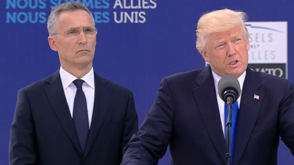 VIDEO: Trump holds meetings with NATO and EU leaders.