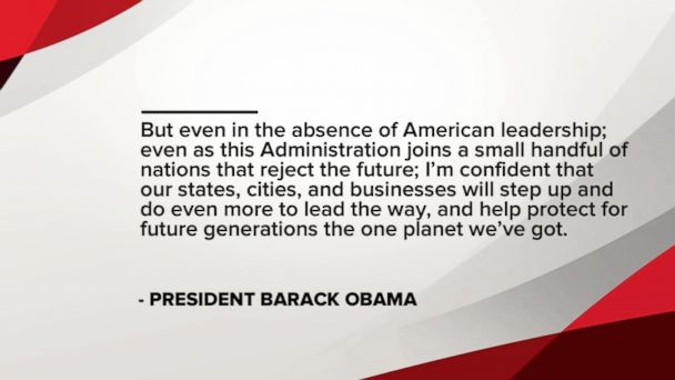 VIDEO: President Obama reacts to US withdrawal from Paris climate accord