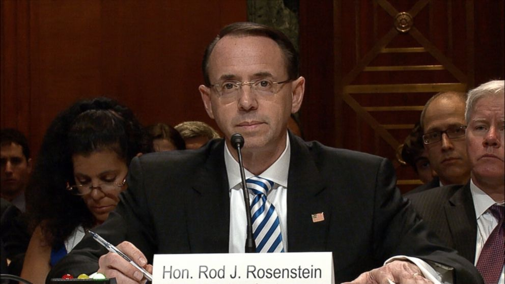 Testifying today in a hearing Attorney General Jeff Sessions was previously scheduled for, Deputy Attorney General Rod Rosenstein assured the Senate Appropriations Committee that Mueller will have