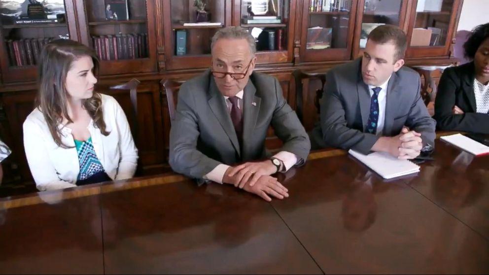 Chuck Schumer mocks Trump Cabinet meeting in tweet Video - ABC News