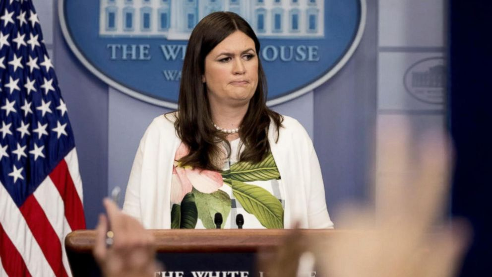 Sarah Huckabee Sanders said she