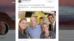 Sen. John McCain, who is battling an aggressive form of brain cancer, has finished the first round of radiation and chemotherapy treatment, daughter Meghan McCain said Friday.