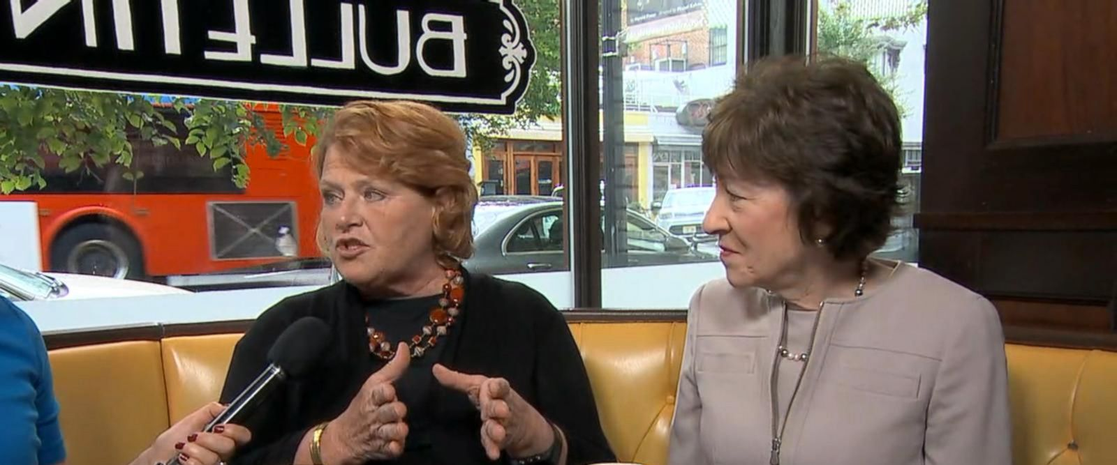 VIDEO: Senators Susan Collins and Heidi Heitkamp talk bipartisanship