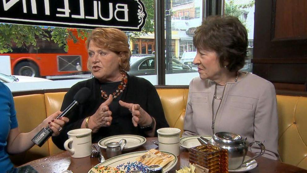 WATCH:  Sens. Susan Collins and Heidi Heitkamp talk bipartisanship