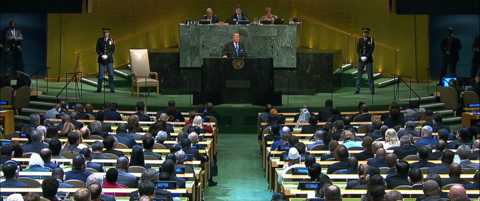 """From calling Kim Jong Un a """"rocket man on a suicide mission"""" to saying Iran is a """"murderous regime,"""" here are the biggest moments from President Donald Trump's speech to the United Nations General Assembly."""