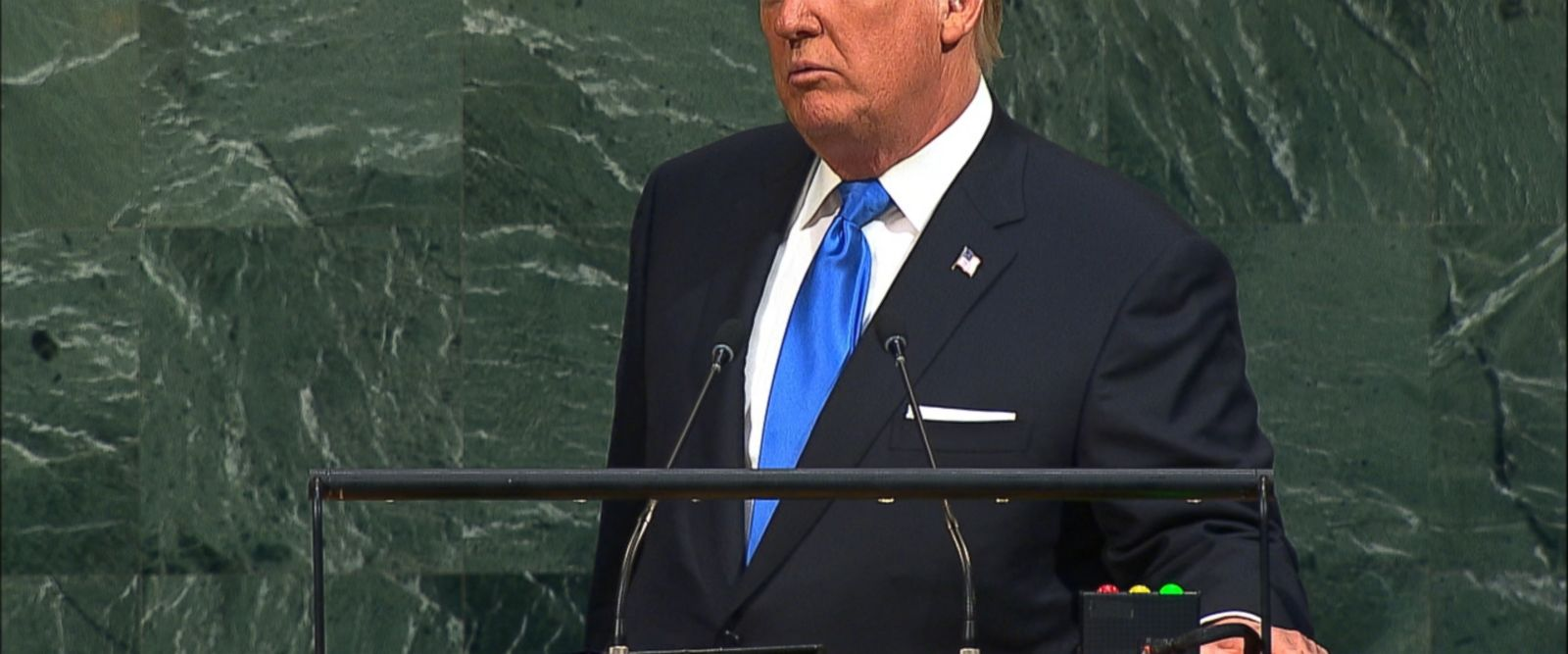 """""""Just like you, as the leaders of your countries, will always and should always put your countries first,"""" President Trump said to the United Nations General Assembly."""