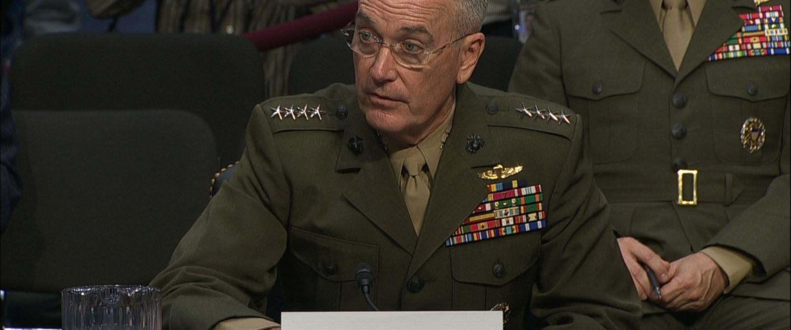 VIDEO: The chairman of the Joint Chiefs of Staff made his comments before the Armed Services Committee.