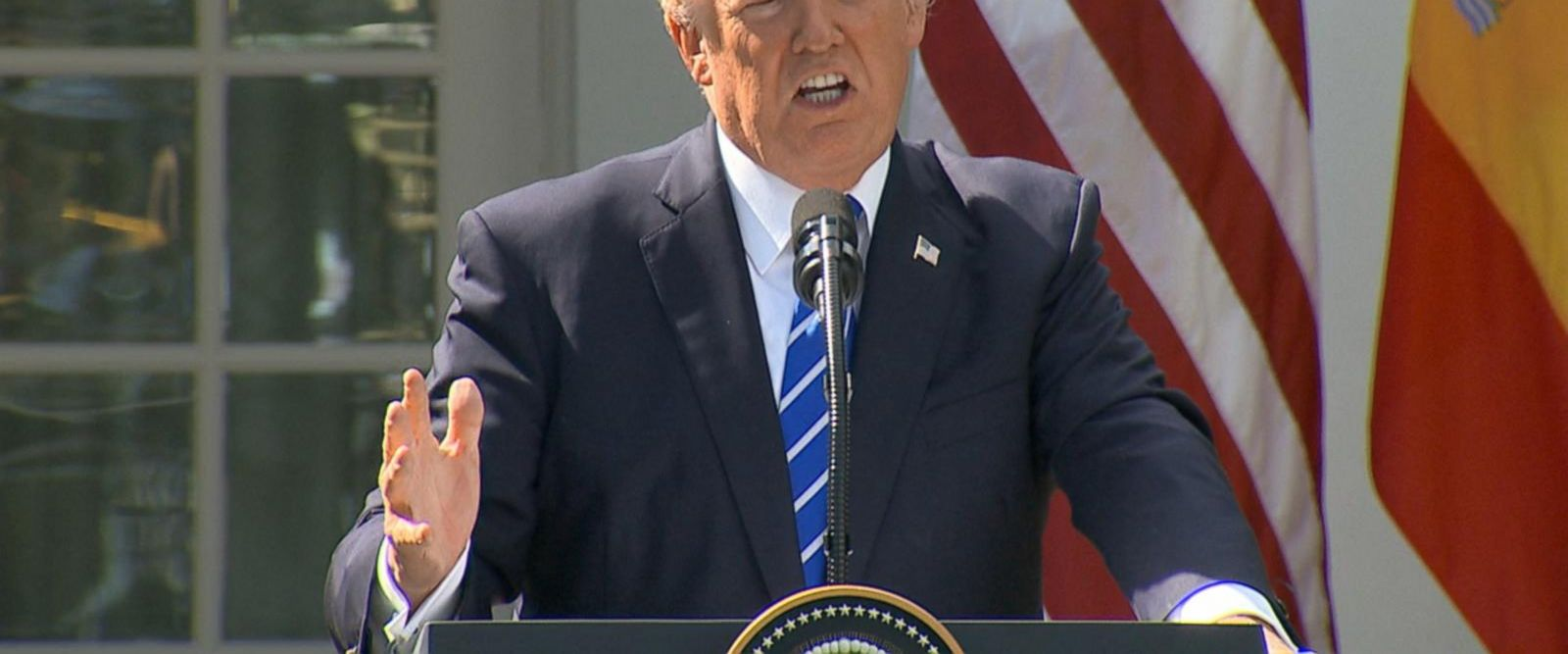 The president was asked about North Korea's threat to shoot down U.S. bombers.