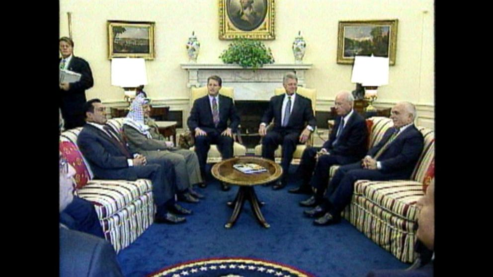 WATCH:  Sept. 28, 1995: Rabin, Arafat sign accord at the White House