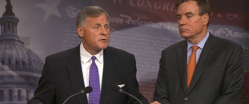 """The top two members of the Senate Intelligence Committee gave a detailed update on the panels investigation into Russian interference in the 2016 election today, saying that the """"issue of collusion"""" with Russia remains open."""