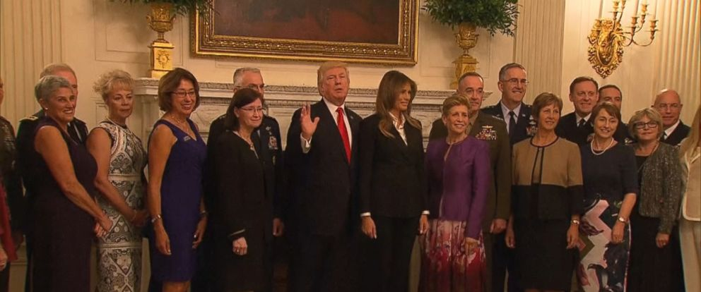 """VIDEO: President Donald Trump made seemingly cryptic threatening remarks during a White House gathering of U.S. military leaders Thursday night, saying it represents """"the calm before the storm."""""""