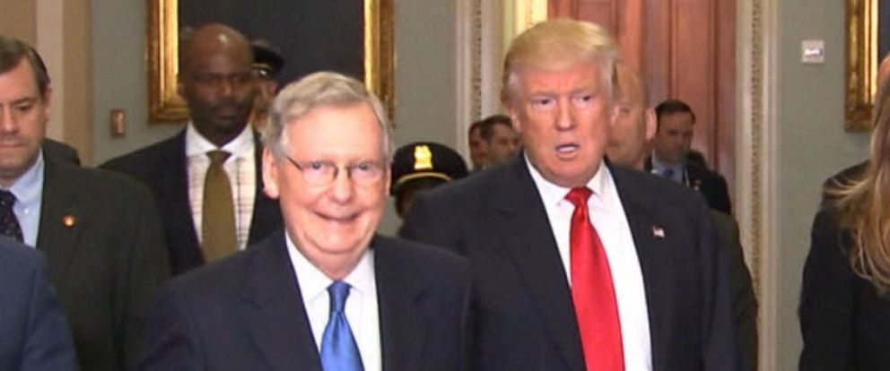 """VIDEO: President Trump's changing tune on Mitch McConnell Trump said he's """"closer than ever before"""" with the Senate majority leader after months of criticizing his leadership."""