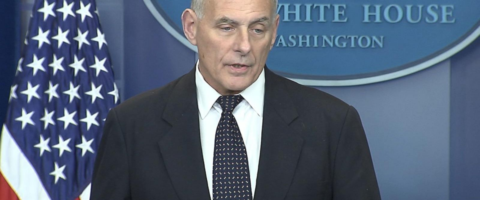 VIDEO: John Kelly speaks at White House press briefing