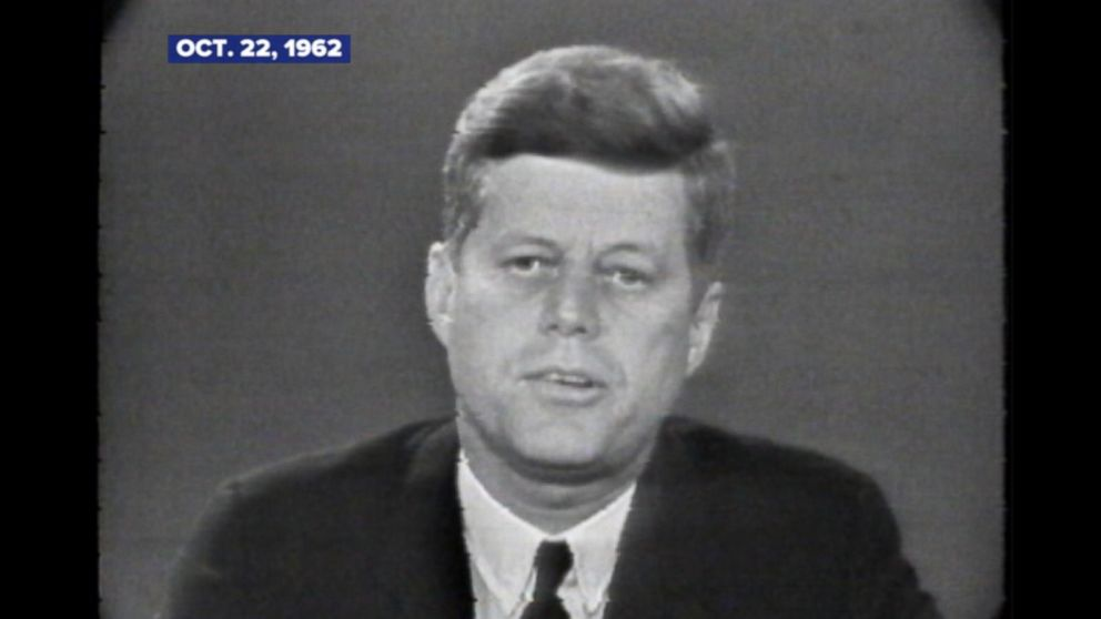 Oct. 22, 1962: President Kennedy announces the existence of Russian missiles in Cuba  in televised address