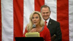VIDEO: Kayla Moore, the wife of Alabama Senate GOP candidate Roy Moore, refuted accusations that her husband holds anti-Semitic views and accused the media of slandering him.