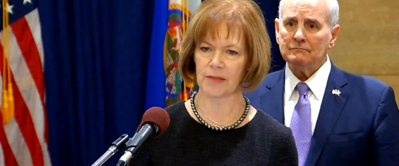VIDEO: Minnesota Gov. Mark Dayton appointed fellow Democrat Lt. Gov. Tina Smith.