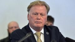 VIDEO: Dan Johnson vehemently denied the allegations at a press conference Tuesday.
