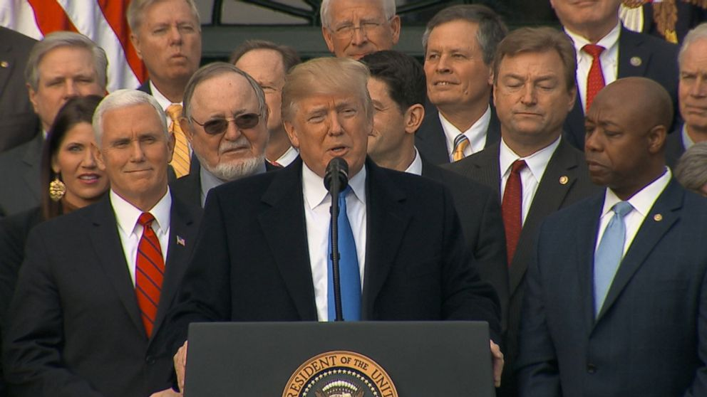 SPECIAL REPORT: Republicans celebrate tax plan at the White House