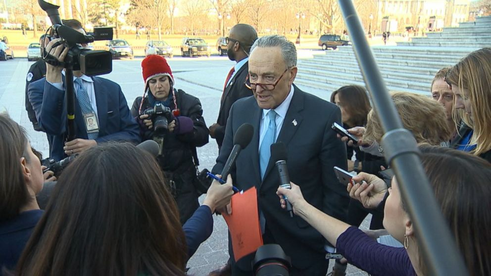 Sen . Chuck  Schumer  says 'some progress' made in meeting with Trump
