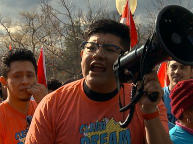 WATCH:  Protesters gather on Capitol Hill after government shutdown ends with no resolution for DACA