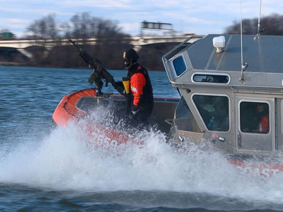 PHOTO: U.S. Coast Guard prepares to patrol to waters around Washington, D.C. for Inauguration Day.