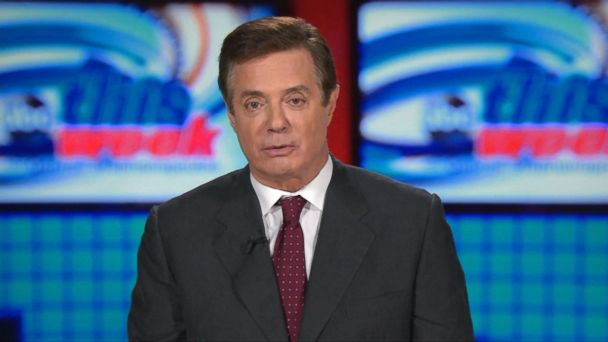 PHOTO:  Then-Trump campaign chairman Paul Manafort spoke to ABC News on July 24, 2016, and said questions about ties with Russia were