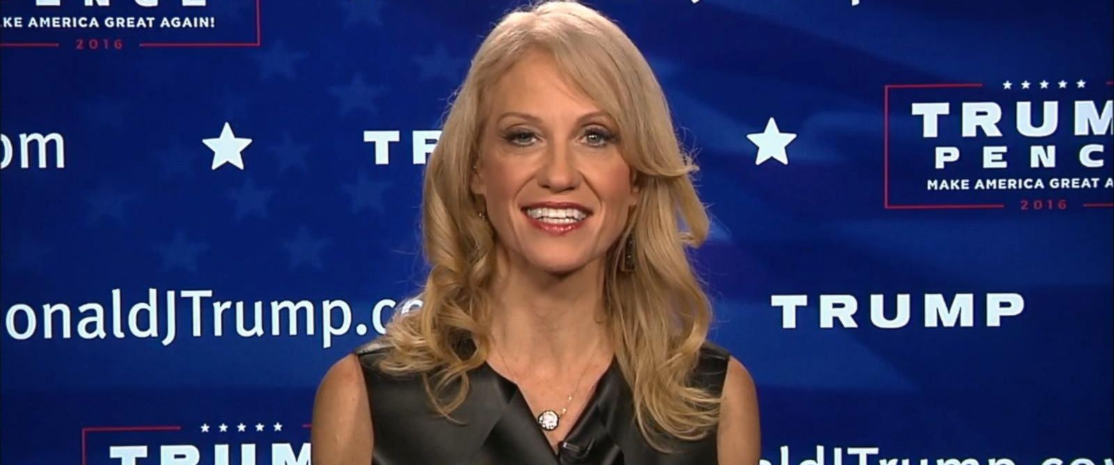donald trump campaign manager kellyanne conway describes very photo donald trump campaign manager kellyanne conway appeared on good morning america to
