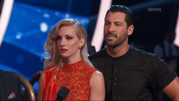PHOTO: Heather Morris and Maksim Chmerkovskiy appear on