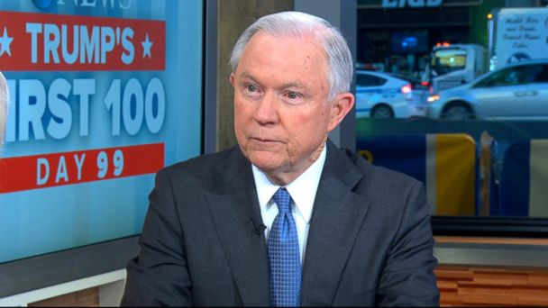 PHOTO: Jeff Sessions appears on