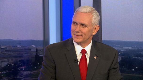 PHOTO: Mike Pence appears on