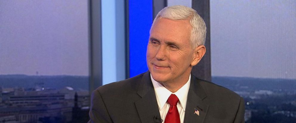 "PHOTO: Mike Pence appears on ""Good Morning America,"" March 1, 2017."
