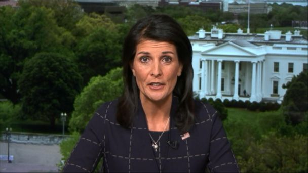 PHOTO: Nikki Haley appears on