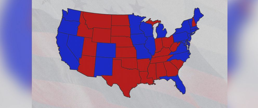 Youll Never Guess Why Republicans Are Red Democrats Blue ABC News - Democrat republican map