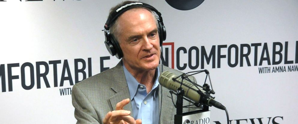 "PHOTO: Jared Taylor explains his views on what he calls ""white pride"" on Uncomfortable with Amna Nawaz."