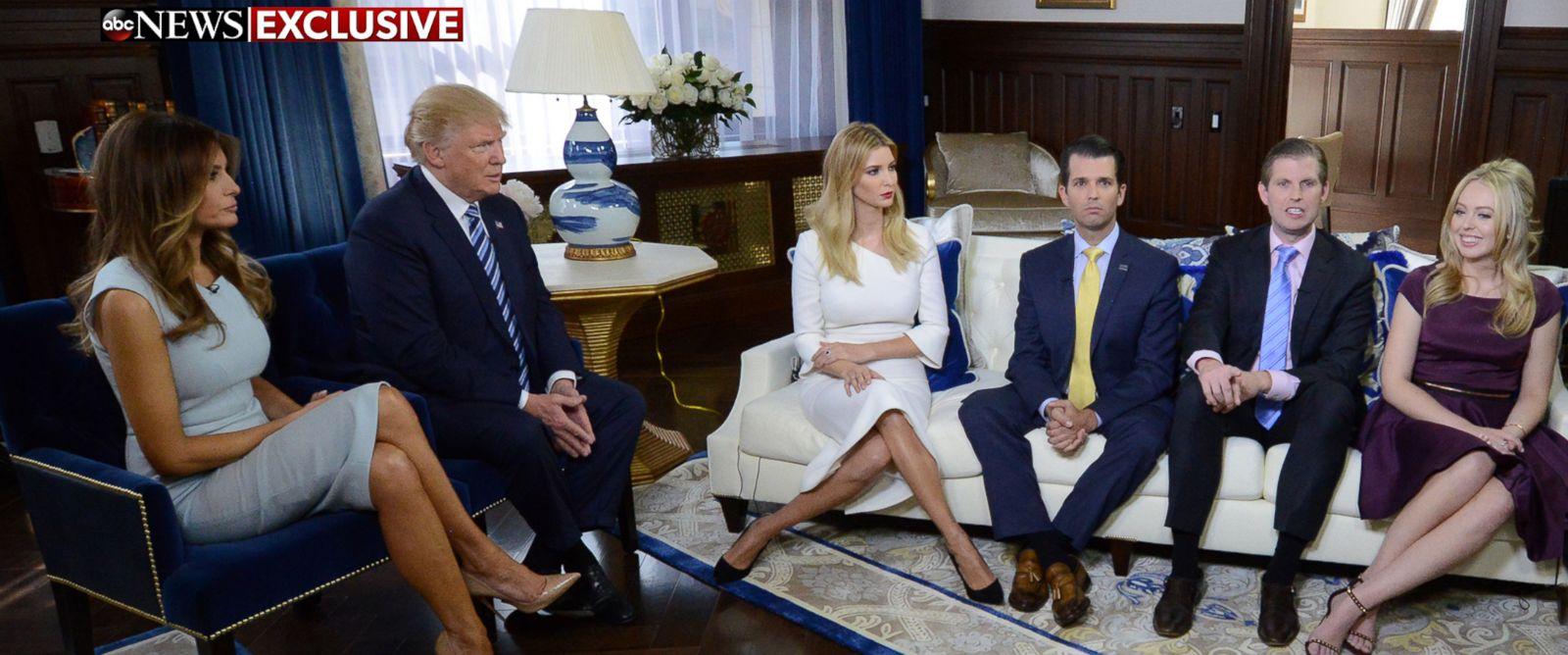 Transcript: George Stephanopoulos Interviews Trump Family - ABC News