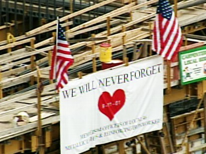 pic of sign remembering 9-11 victims
