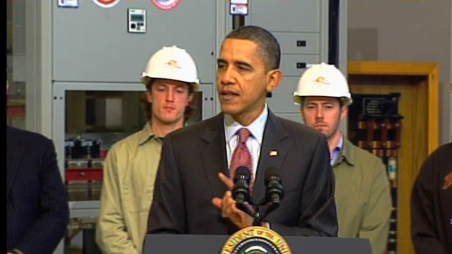 Video of President Obama saying safe nuclear power plants are a wise investment.